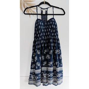 AMERICAN RAG Navy Blue Corset Babydoll Dress
